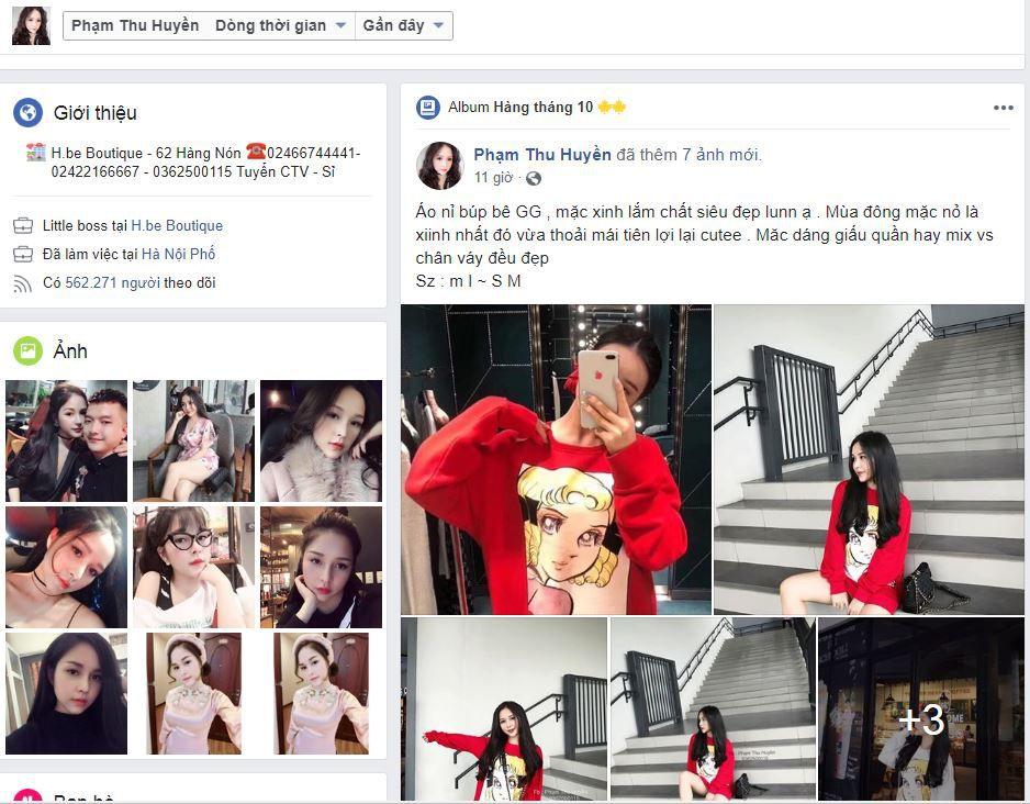 bán quần áo trên facebook