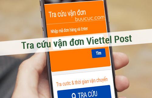 tra mã vận đơn viettel post bằng điện thoại