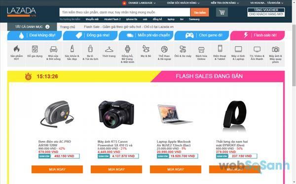 trang web bán hàng lazada
