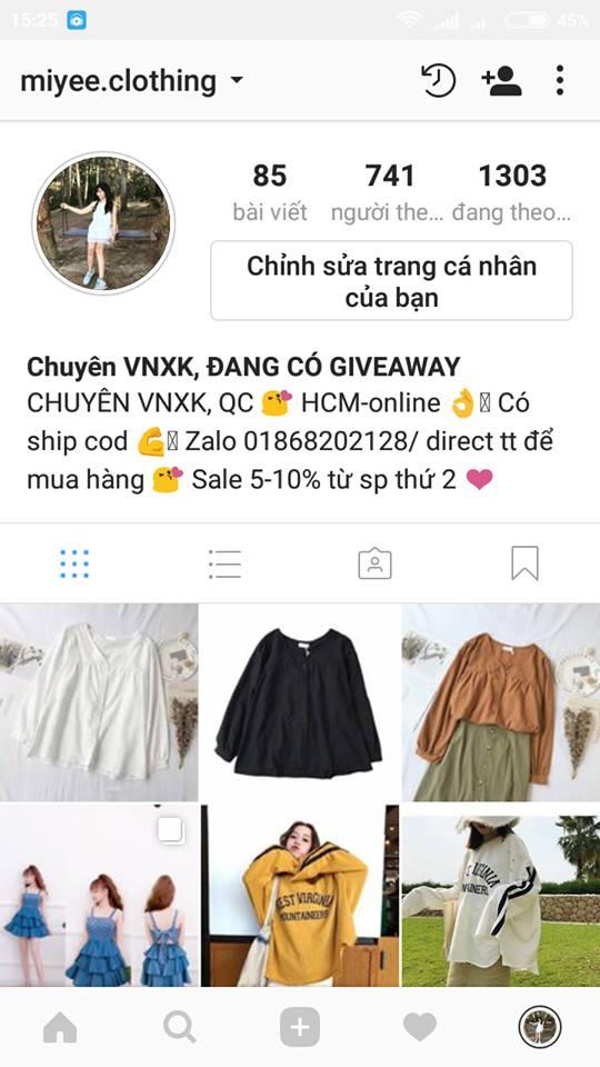 Shop bán hàng trên Instagram