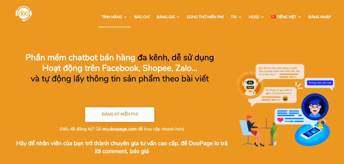 Doopage – nền tảng chatbot phổ biến nhất