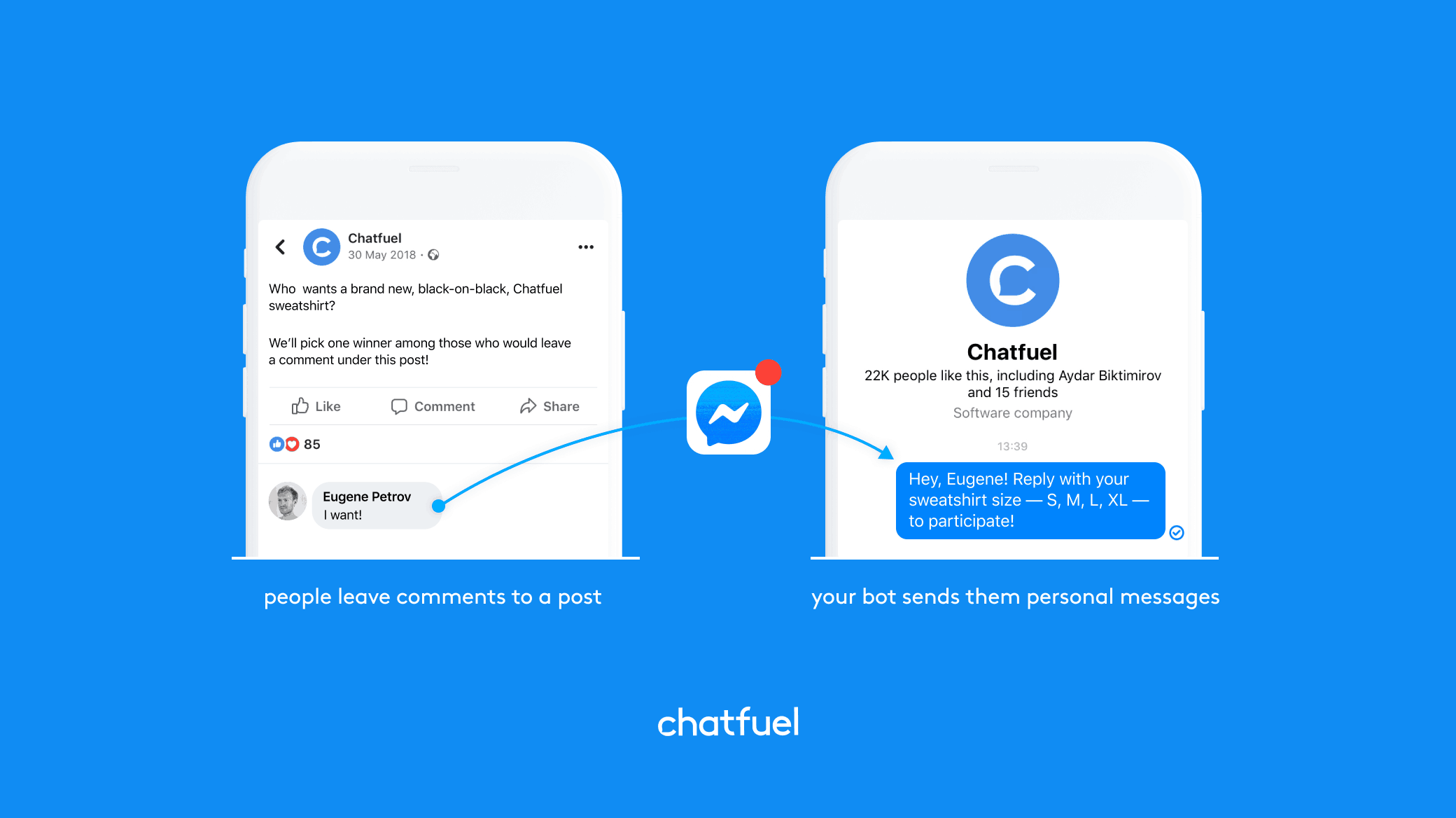 Chatfuelis a free tool that helps you build a chatbot