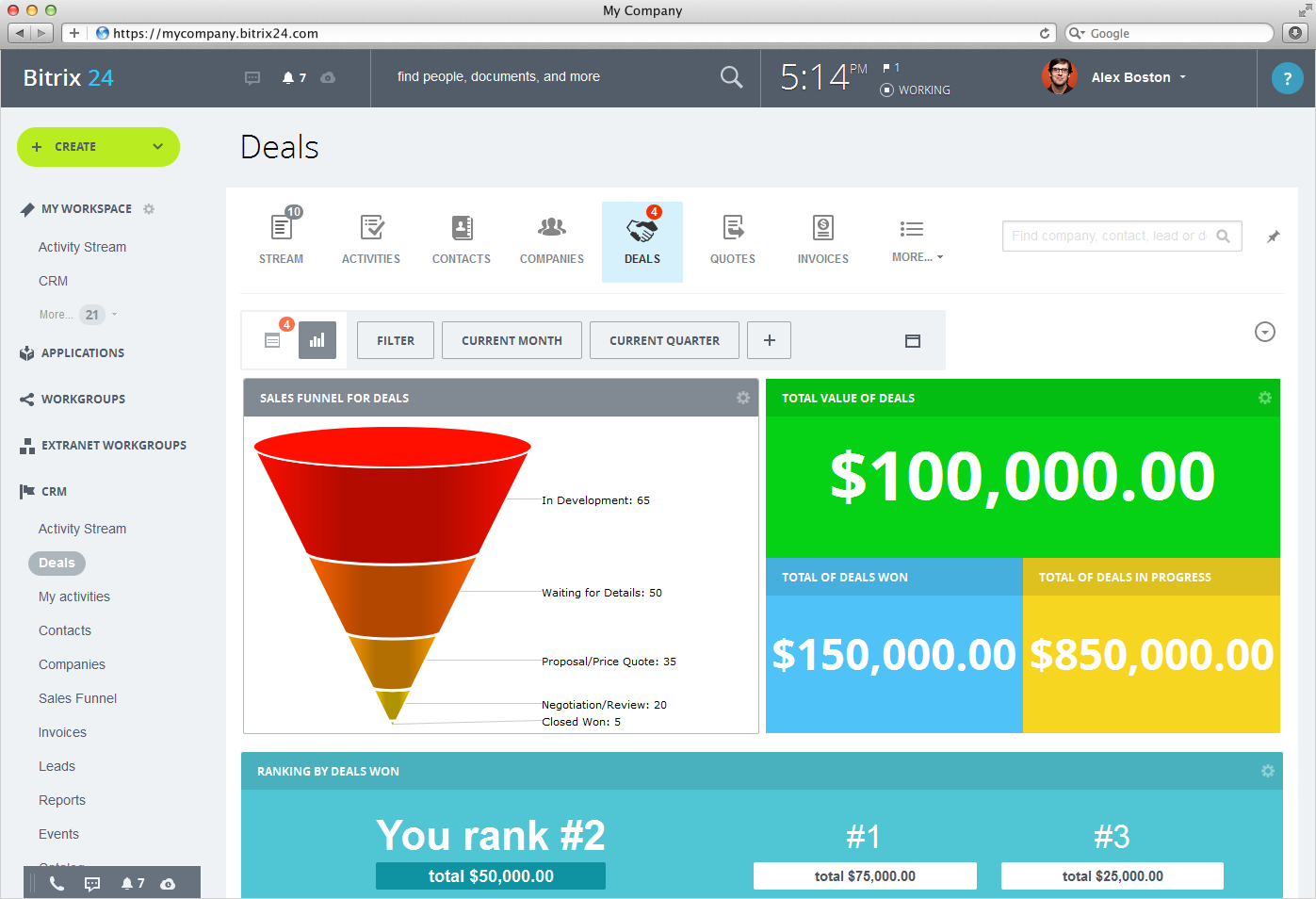 Bitrix24 is software that distributes leads to sales teams for free